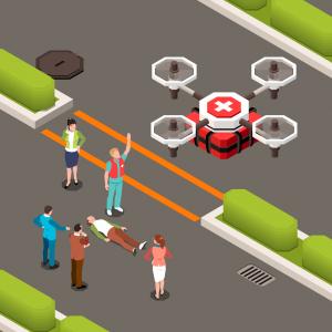 Uso de drones para evitar más contagios en perú